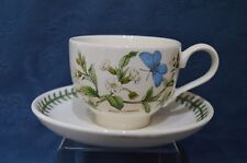 Portmeirion Botanic Garden Breakfast Tea Cup & Saucer - White Campion