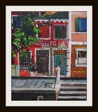 Original pintura impresionista: Melanie Reynoso Parker: vieja casa de Venecia