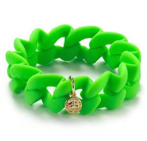 Marc Jacobs Bracelet Rubber Green Haute Mess Turnlock Charm