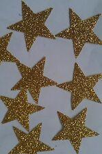 20 de la revisión de hierro en las transferencias de brillo Oro Estrellas Tamaño 3,5 Cm Para Halloween Disfraces
