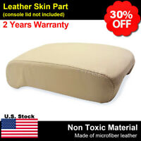 RED STITCH REAL LEATHER LID ARMREST COVER FITS INFINITI G37 SEDAN 2010-2014