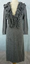 RENE DERHY Robe Taille L - Grise - Manches longues - Angora - argent