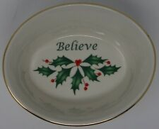 Lenox Holiday Oval Believe Dish *New*