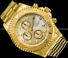 Invicta Men Pro Diver Chronograph 18k Gold Plated Champagne Dial 43mm Watch 1774