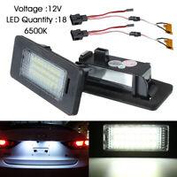 2x 12V 24 LED Feux Eclairage de Plaque pour Audi A4 B8 S4 A5 Q5 S5 TT VW/Passat