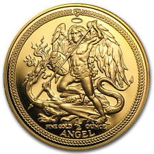 Isle of Man 1/2 oz Gold Angel Coin - Random Year - Proof or Uncirculated