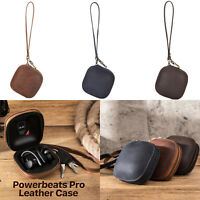 For Powerbeats Pro Wireless Bluetooth Headphones Cowhide Leather Bag Case Cover