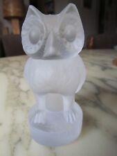 Chouette - hibou en cristal Baccarat