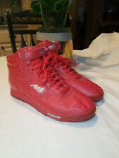 Vintage Avia Fitness 465 High Top Shoes Red Sneakers  US 8.5 Aerobic