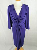 Ladies Dress Size 24 ARLENE PHILLIPS Purple Ruched Party Evening Wedding Races