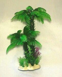 "9"" Aquarium Artificial Plant Palm Tree Green"