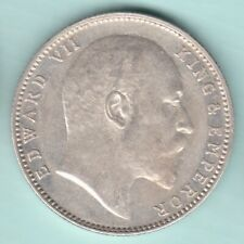 BRITISH INDIA 1903 KING EDWARD VII ONE RUPEE SILVER COIN NEAR ABOUT UNC
