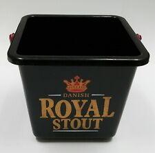 Collectible Danish Royal Stout Mini Black Plastic Ice Bucket Cooler Breweriana