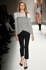 BALMAIN RUNWAY SEQUINNED STRIPE EXTREME SHOULDER PAD TOP DECARNIN sS09 34 S