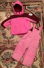 Child's Winter Snow Suit Boy Girl Unisex WARM Insulated Place PINK Toddler 24M