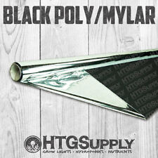 "4' x 50' Ft. REFLECTIVE MYLAR +BLACK POLY FILM THICKER 2 MIL HEAVY DUTY 48"" ROLL"