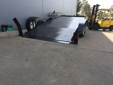 QUALITY BRAND NEW NO RAMPS CAR TRAILER HYDRAULIC TILT TANDEM AXLE 16X6.6FT 3T