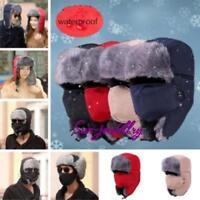 Mens Trapper Winter Hat Face Mask Warm Earflap Aviator Ski Cap LIN