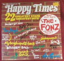 Happy Times in Rock and Roll - Giant The Fonz Poster NM 1976 Commonweath NU9200