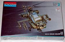 Monogram 1/48 AH-64 Apache Helicopter Model Kit, Factory Sealed