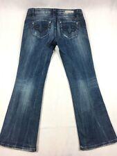 Rerock Express Bootcut Denim Blue Jeans Faded - Women's Size 6S Short