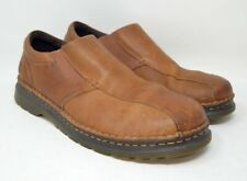Dr. Martens Tevin Mens 13M Brown Tan Leather Slip On Loafers Comfort Shoes