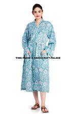 Ladies Cotton Fabric Robes Bridal Wedding Bridesmaid Bride Gown Robe Indian Boho
