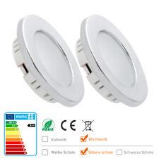 2xWarmweiß 12v LED Einbaustrahler Wohnmobil Deckenlampe Innenraumbeleuchtung