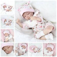 Lifelike Preemie Newborn Baby Floppy Hair Realistic Reborn Baby Girl Doll 16inch