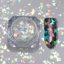 Butterfly Nail Art Flakes Glitter Sequins Sparkle Colorful Paillette UV Manicure