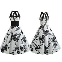 Women Vintage 50s 60s Rockabilly Evening Party Cocktail Pinup Swing Skater Dress