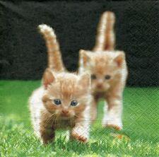 Three Napkins: Kittens (1870)