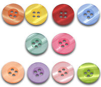 100 Mixed Resin 4 Holes Sewing Buttons Scrapbook 15mm HOTSELL