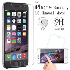 Premium Real HD Tempered Glass Film Screen Protector for Various Mobile Phones