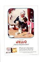 Vintage 1922 Jell-O Jello Norman Rockwell Print Ad