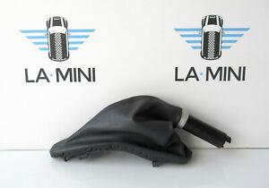 Genuine MINI Black Leather Handbrake Gaiter for R50 R52 R53 #10
