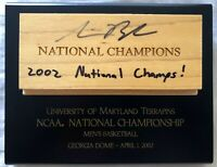 Steve Blake signed auto Maryland Terrapins 2002 NCAA National Championship floor