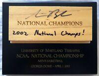 Steve Blake signed auto Maryland Terrapins 2002 NCAA National Championship floor