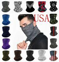 Face Mask Neck Gaiter Bandana Cover Scarf Balaclava Reusable Washable Breathable