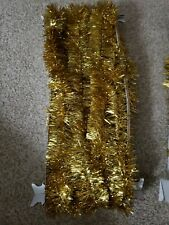 "Vintage~Santas Best~Gold Tinsel/ Garland 2""x 40' (Bin#Ts)"