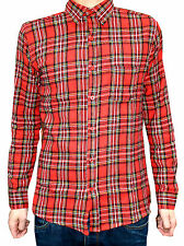 Camicie casual da uomo rossi aderente