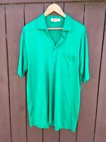 Men's Emerald Green LANVIN Golf Polo Shirt 100% Cotton XXL 2XL Nice!