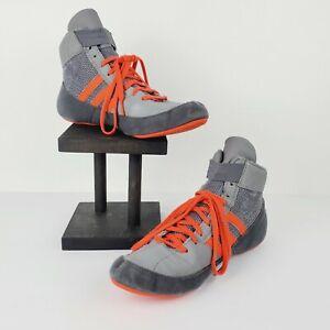 Adidas Men's Wrestling Shoes PYA 046001 Gray/Orange Size 8.5 NICE!