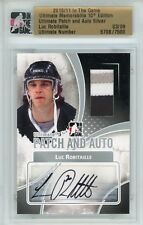 Luc Robitaille HOF LA Kings Ultimate Memorabilia 12th Ed Ultimate Auto Patch 3/9