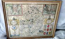 John Speed Framed Map VTG Antique Warwicke Coventree Coventry 1469 Poster Print