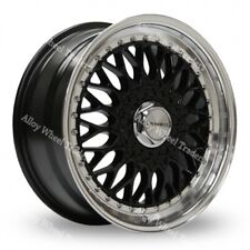 "17 "" Nero Bsx Cerchi in Lega per VW Caddy Corrado Citygolf Golf Jetta Superiore"