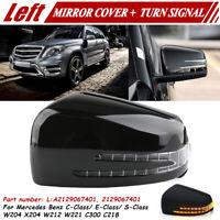 Links Spiegelkappe Abdeckung Gehäuse + Blinker Für Mercedes W204 C207 W212 W221