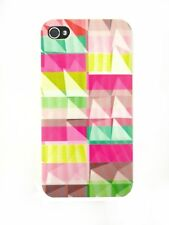 ►► Coque IPHONE 4 ou 5 // Patchwork de couleur Art pyramide (unique !!)