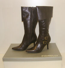 FIORELLI WOMENS POINTY WINTER BOOTS SIZE 7 LEATHER LADIES JAYE BROWN rrp $299.95