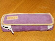 vintage TROUSSE d'ecole ITER étui tasche SAC à stylo PEN CASE tann's